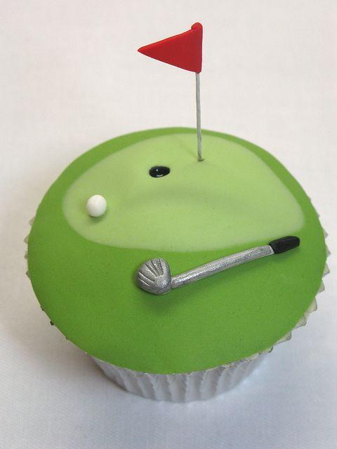 golf cupcake Cake & Cupcake Decorating Pinterest