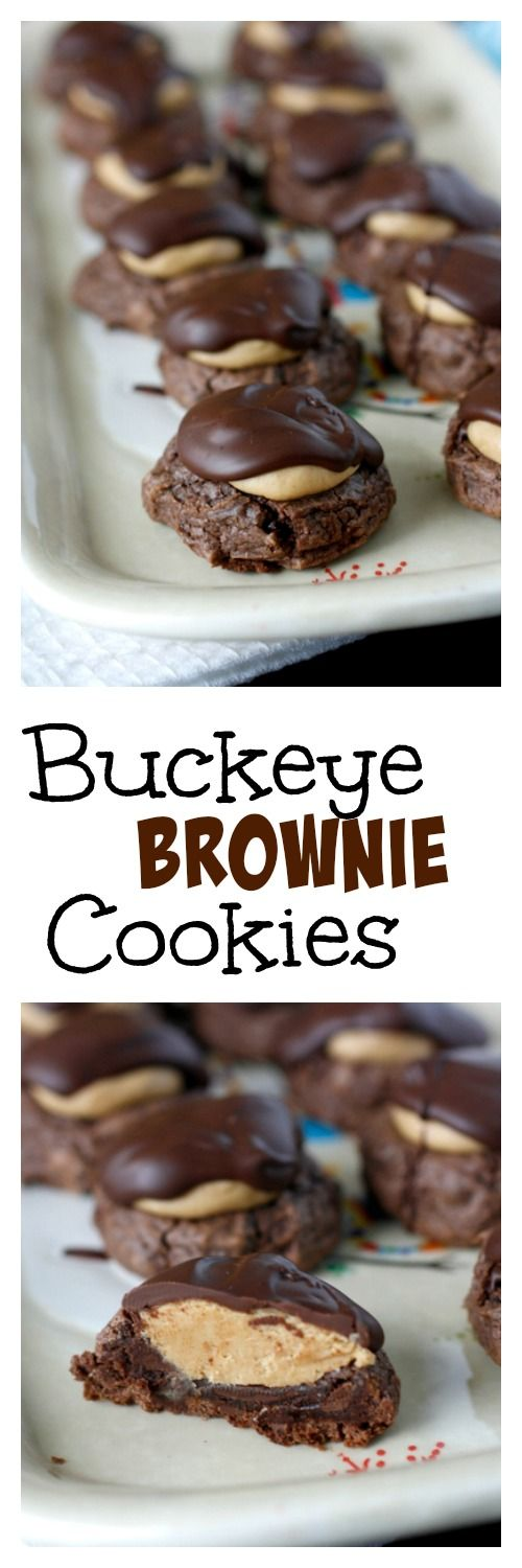 Buckeye Brownie Cookies - the ultimate chocolate peanut butter cookie!