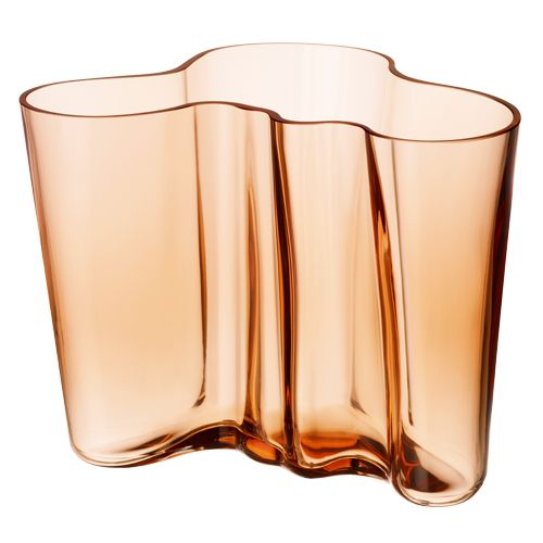 A gift from Finnish friends in Kabul!  iittala Aalto Rio Brown Vase $175.00  #pintofinn
