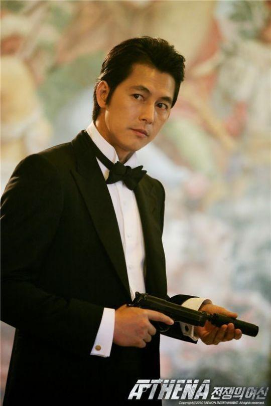 jung woo sung   Jung Woo Sung – A black, medium, professional, slicked back style.