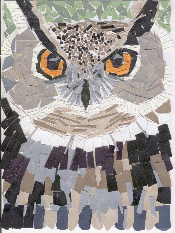 Collage di un gufo Owl collage