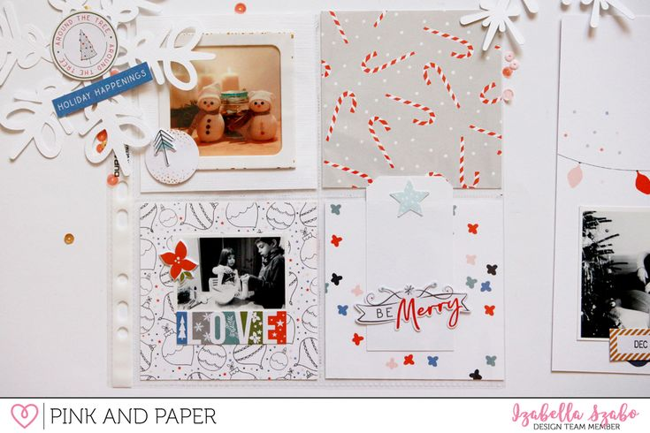 Holiday mini album using the Pinkfresh Studio December Days collection - Pink and Paper Blog