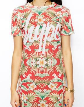 Hype T-Shirt Dress With All Over Floral Print