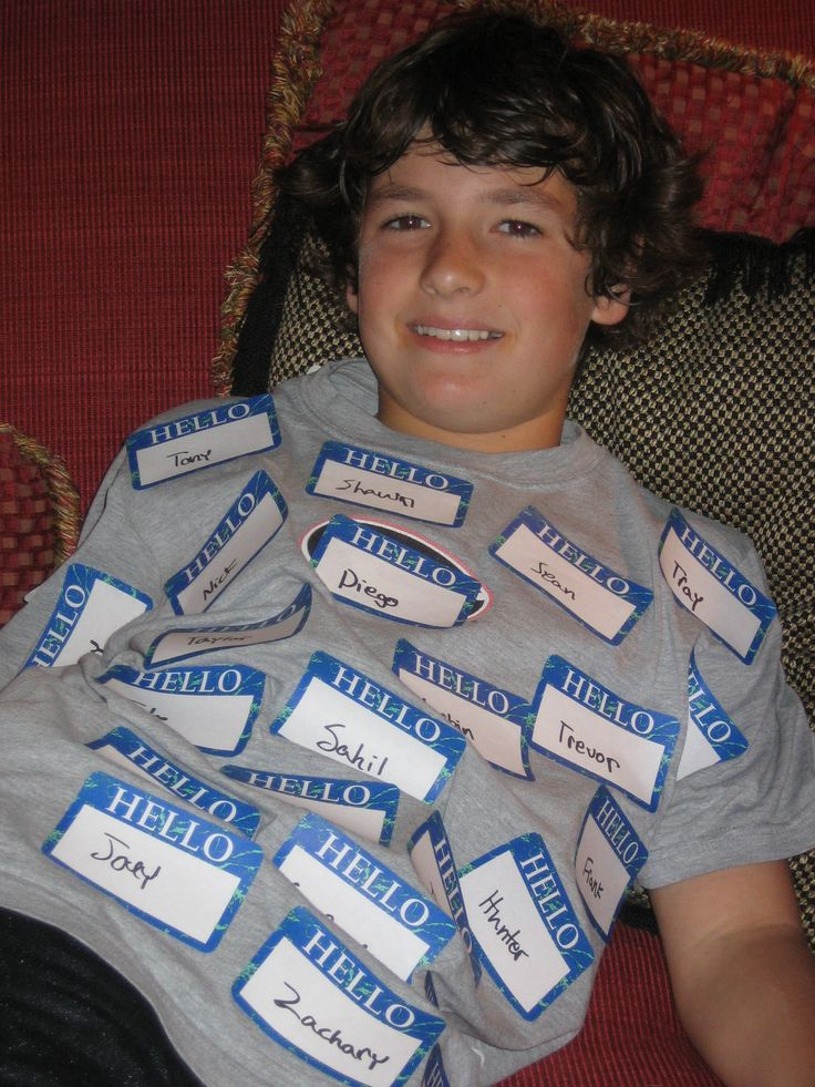 Last minute costume idea: Identity Theft. Hello my name is ... stickers. There are also 6 other last minute costume ideas.