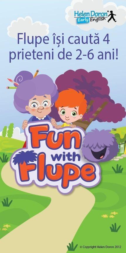 Cursuri de #engleză pentru #copii cu vârste între 2 și 6 ani. Vino alături de Flupe în aventură!