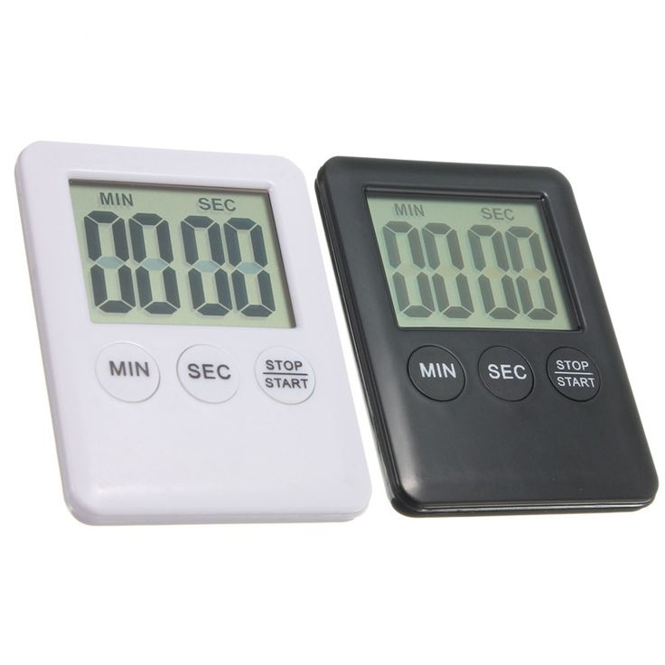 Durable Quality Electronic Digital LCD Magnetic Countdown Timer Count Down Egg Kitchen 99 Minute