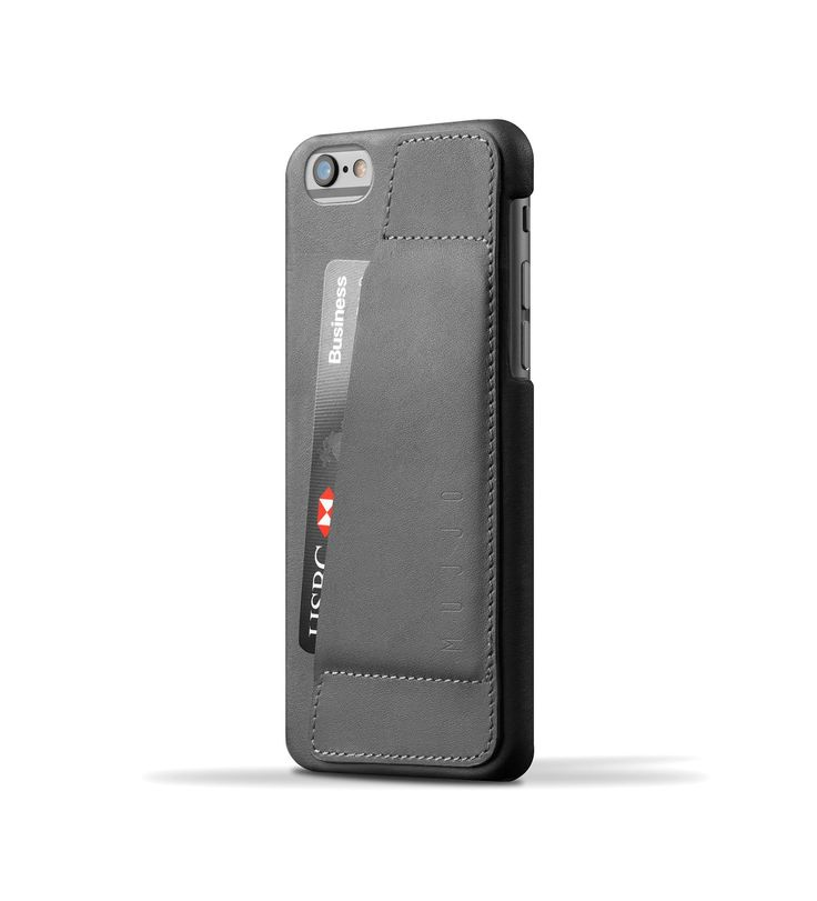 Leather Wallet Case 80° for iPhone 6 - Gray