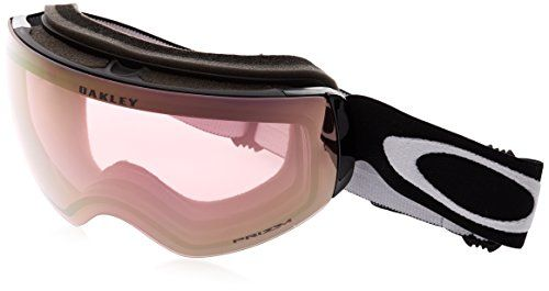Oakley Flight Deck XM Snow Goggles, Matte Black, Prizm Hi Pink, Medium:   Unrivaled field of view in a more compact, mid-sized fit. Oakley Flight Deck XM has an optically correct rimless lens design that provides unparalleled peripheral vision in every direction. The rigid O Matter lens sub-frame attachment allows for fast and easy lens changing and support, while the flexible O Matter faceplate offers comfort, unrestricted airflow and easy breathing. The streamlined frame and outrigge...