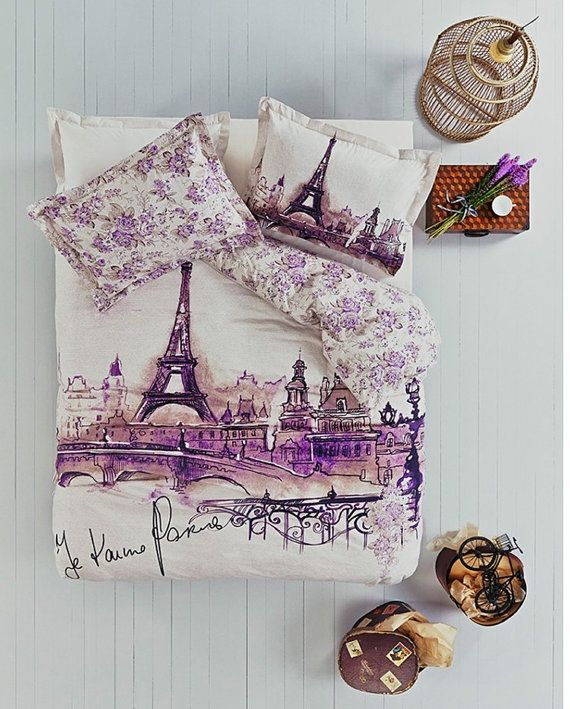 100 Cotton Paris London New York City Bedding Queen by LuxusStore, $94.00... Bayleigh would LOVE this!  Bunk beds coming soon.... Hmmmmmm.