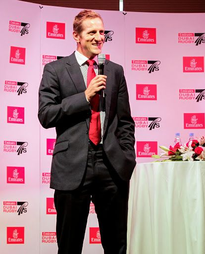 Will Greenwood entertaining the crowd at the Emirates Rugby Long Lunch #longlunch #dubai7s