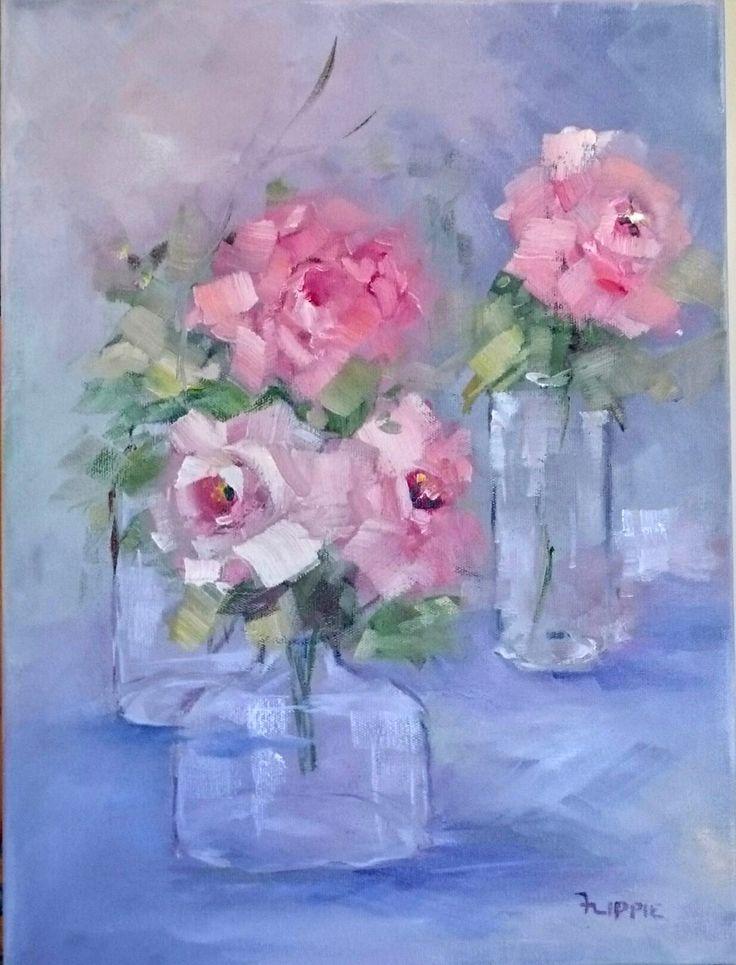 Pink roses - Flippie Botha