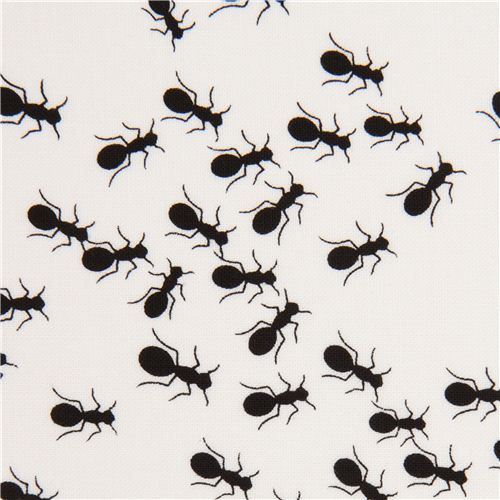 white ants animal fabric by Timeless Treasures 1