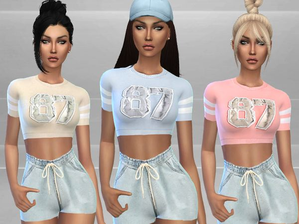 Gym Outfit by Puresim at TSR via Sims 4 Updates