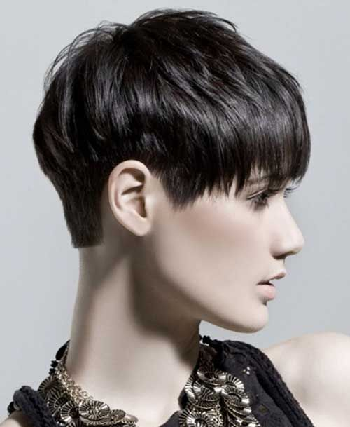 Short Hairstyles for Dark Hair | http://www.short-haircut.com/short-hairstyles-for-dark-hair.html