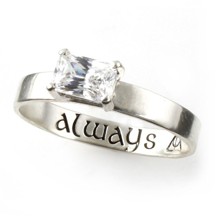 """Harry Potter """"Always"""" Deathly Hallows Engagement Ring - Spiffing Jewelry"""