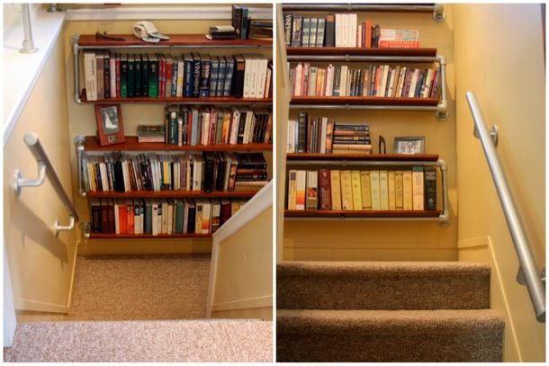 Wall Mounted Bookshelf - 2 Angles