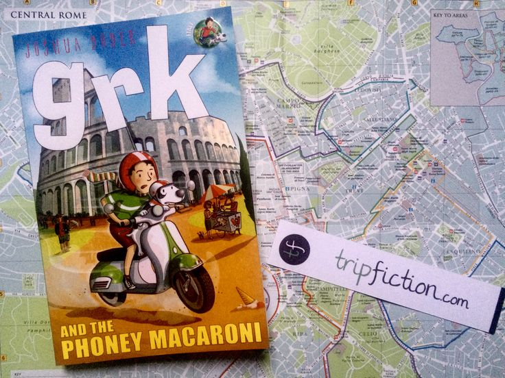 "One for the kids.... novel set in ROME ""Grk and the Phoney Macaroni"" by Joshua Doder/Josh Lacey http://www.tripfiction.com/books/grk-phoney-macaroni/"