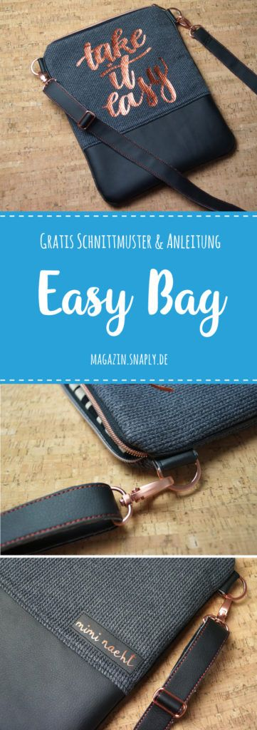 """Handtasche """"Easy Bag"""" nähen – kostenloses Schnittmuster"""