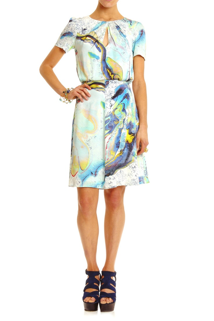All Clothing - MARBLE PRINT DRESS - Lisa Ho - Textile design by Rouse Phillips