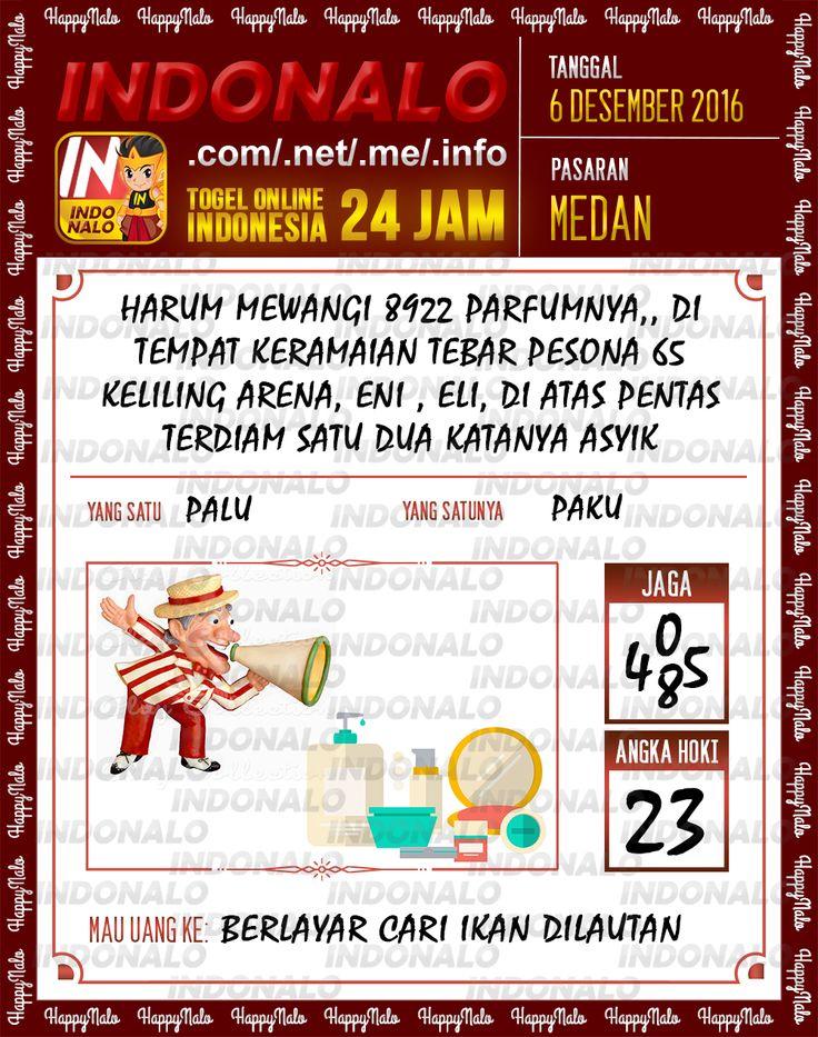 Angka Kumat 2D Togel Wap Online Live Draw 4D Indonalo Medan 6 Desember 2016
