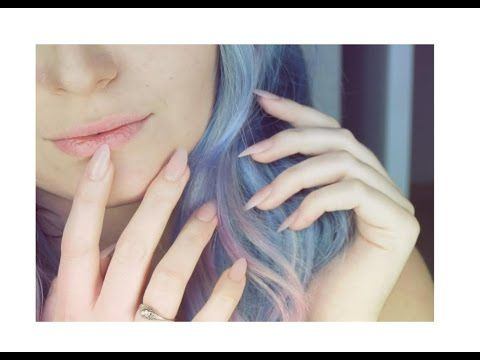 Acrylic Nails at Home | Natural Pink Blush Nails | DIY Nails - YouTube