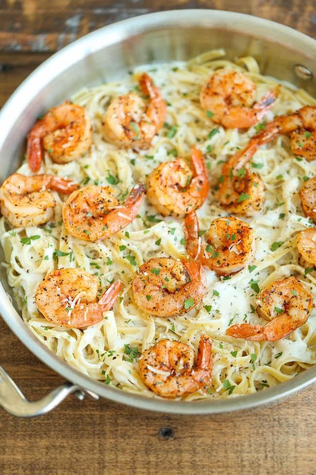 The whole family is sure to approve of this Cajun Shrimp with Garlic Parmesan Cream Sauce recipe