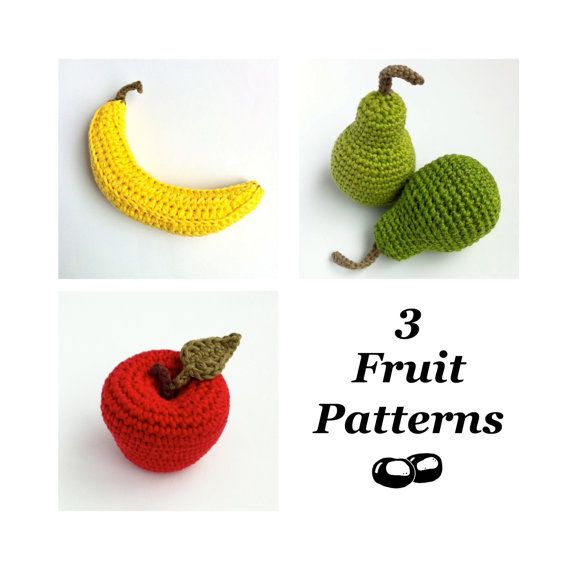 Hey, I found this really awesome Etsy listing at https://www.etsy.com/listing/198213218/crochet-fruit-patterns-crochet-food