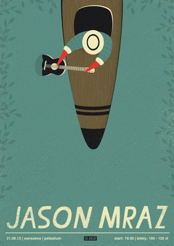 Elegantly Illustrated Concert Posters Of Well-Known Bands ...