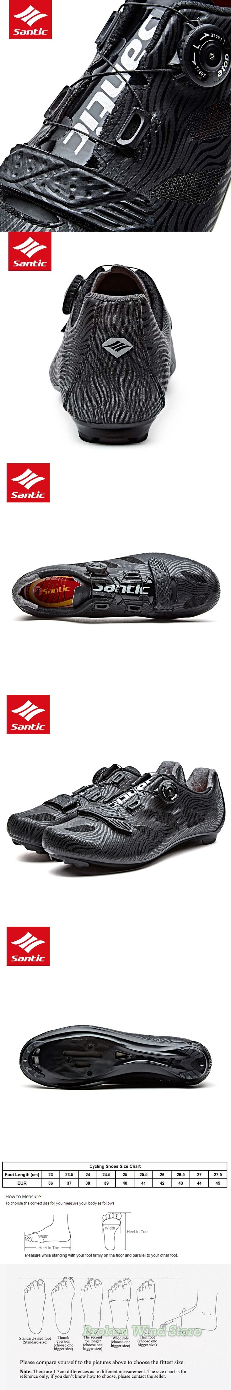 Santic Cycling Shoes PRO Self-Locking Road Bike Shoes Men Sapatilha Ciclismo Estrada Wear-resisting Bicycle Shoes Sneakers 2017
