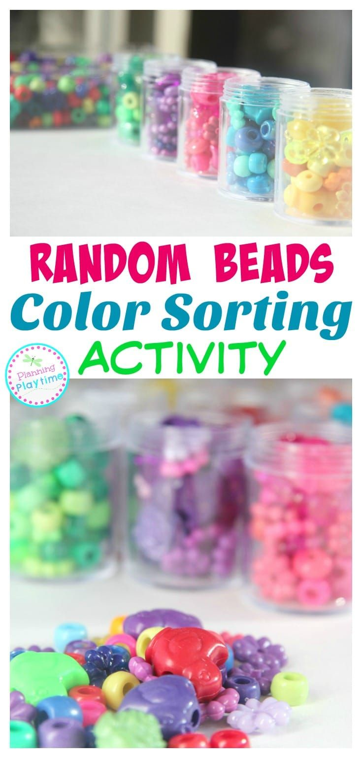 Coloring games for 2 year olds online - Random Beads Color Sorting Activity