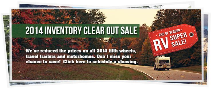 Inventory Clear Out Sale going on now. Plus, receive a free $750 gas card with the purchase of a 2014 model!