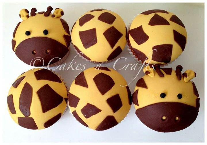 Giraffe cupcakes- Ruby's party ideas