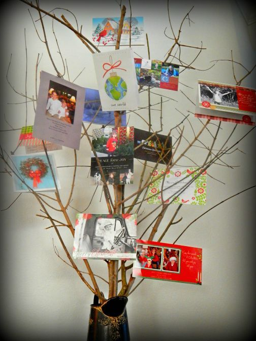 Great Way to Display Christmas Cards