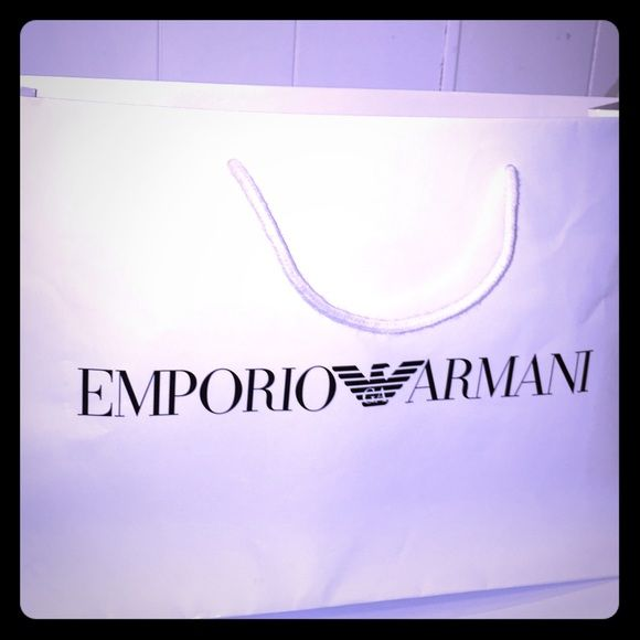 Emporia Armani Shopping Bag Excellent condition 17,5 X12 Emporio Armani Accessories