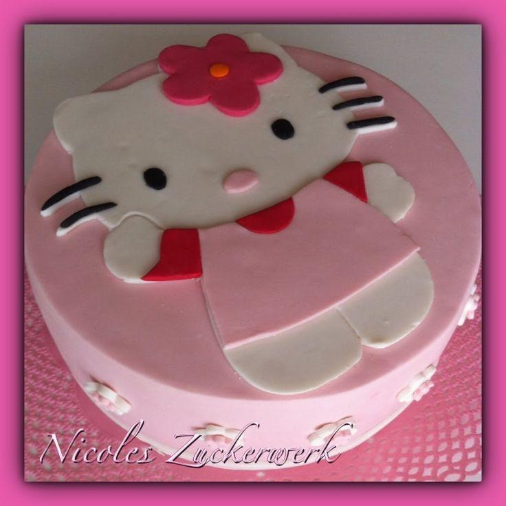 Motivtorte/Fondanttorte mit Hello Kitty Design