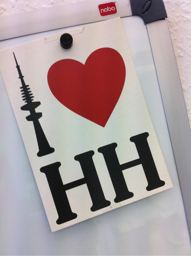 I <3 HH | weitergepinnt von der #Werbeagentur www.BlickeDeeler.de aus #Hamburger