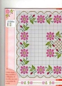 Esquinas de flores en punto cruz | Colección de patrones para realizar punto de cruz gratis