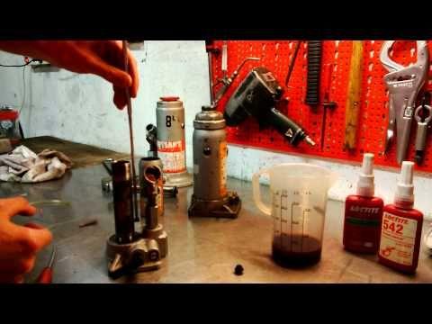 faire fonctionner un cric la tête en bas presse hydraulique - YouTube
