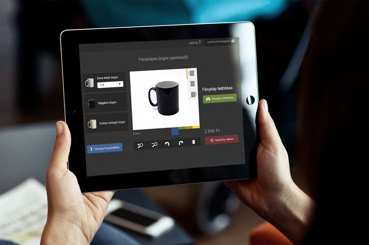 Online responsive editor, custome photo mugs. Fotex project. #visual #editor #UI #app