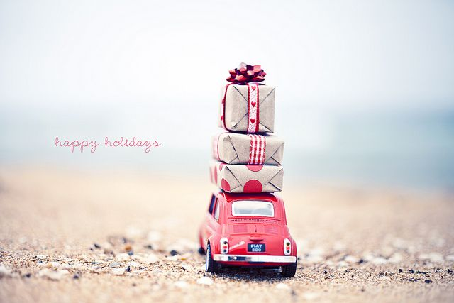 Christmas in a Fiat 500