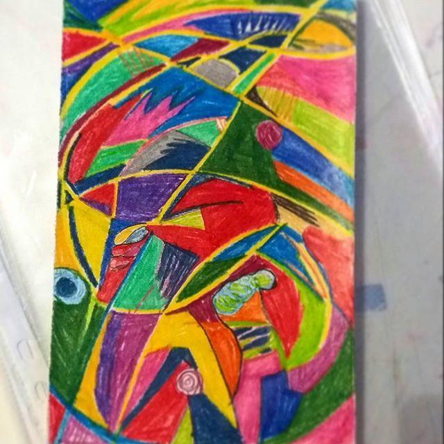 ☃️  #sketch #abstract #art #artstagram #creative #sketchoftheday  #abstractart #as #whatwhat  #sketchbook #somecolor #kohinoor #versatile #arts_help