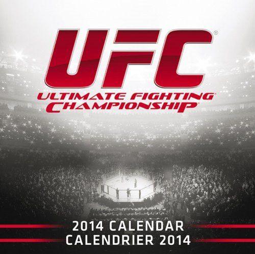UFC 2014 Wall Calendar, Red, 12 x 12 x 0.13-Inch