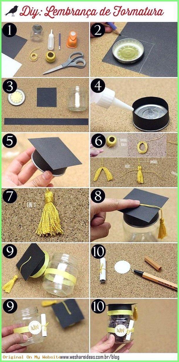 Graduation Gift Ideas Mini Graduation Hat Jar 8thgradegraduationgiftideas Graduation Diy Diy Graduation Cap Graduation Party Diy