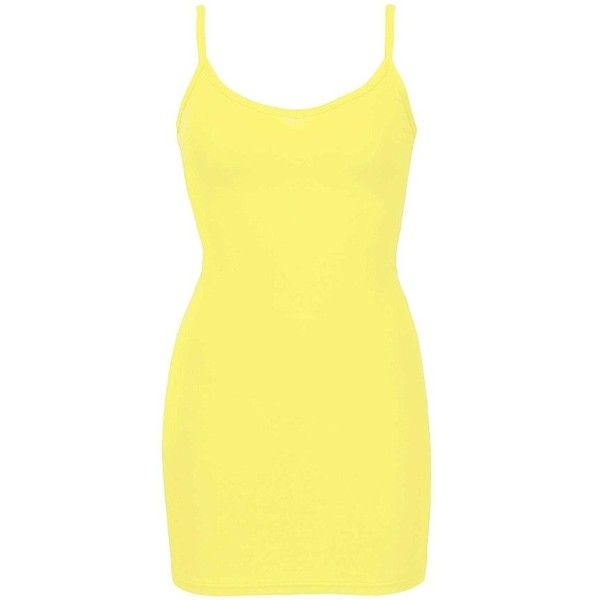 BKE Core V-Neck Extra Long & Lean Tank Top ($9) ❤ liked on Polyvore featuring tops, yellow, v neck tank, low top, basic tank, extra long tank tops and v neck tank top