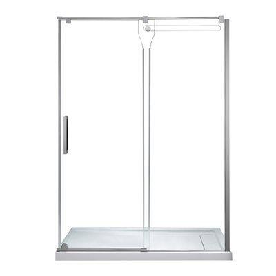 Jacuzzi Erika 26-in to 58.2-in W x 76-in H Frameless Sliding Shower Door