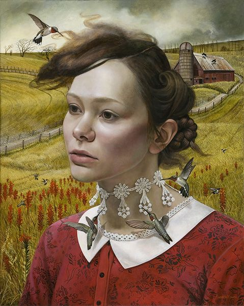 """""""Her Thoughts, They Hum"""" by Andrea Kowch"""