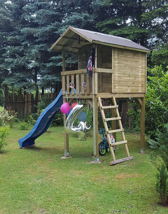 Fabulous  Spielhaus Stelzenhaus Justin Kinder Kinder Spielger te Garten