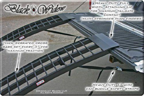 96 inch Black Widow Aluminum Folding Dual Off-Road ATV Loading Ramps 3