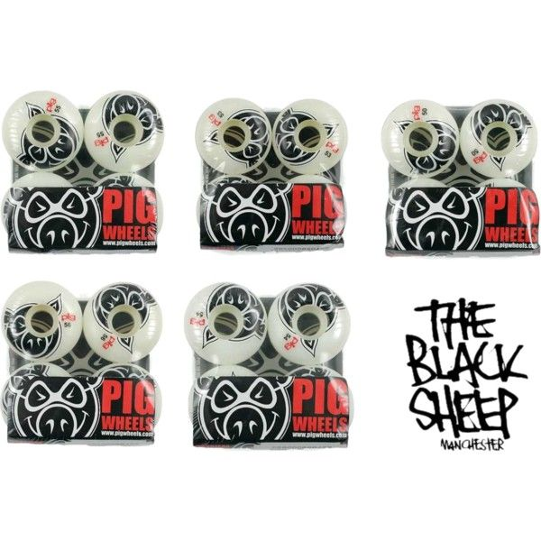 Restock On Pig Wheels, Sizes To Please All Too... Grab Yours Now! by blacksheepstore on Polyvore