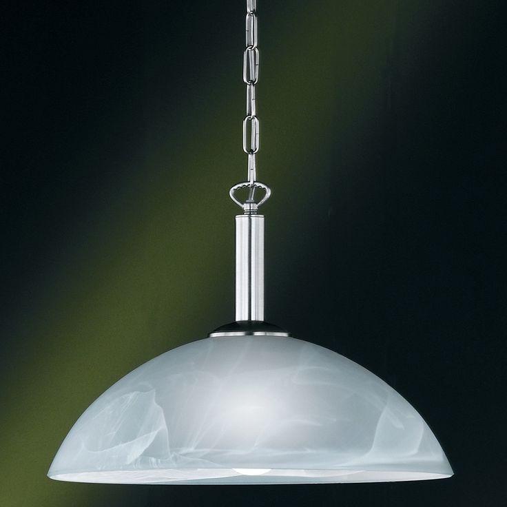 Klassische Pendelleuchte mit halbrundem Lampenschirm und einem Durchmesser von 40 cm